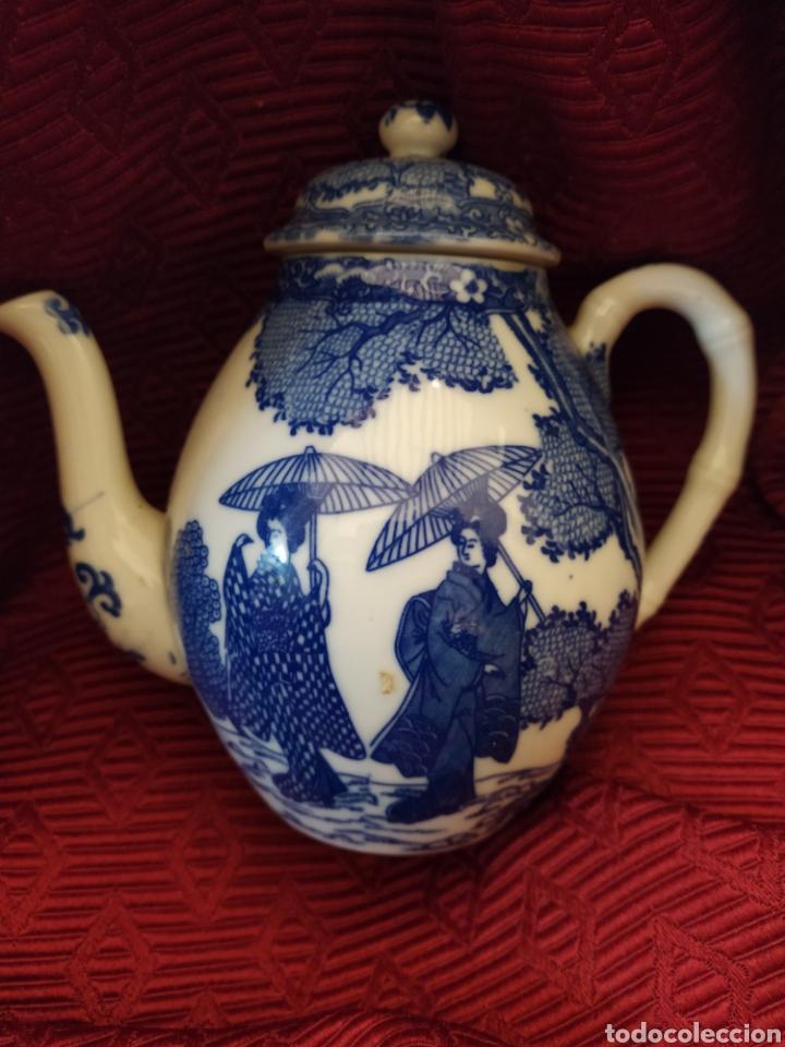 Antigüedades: Juego de tu y yo porcelana muy fina japonesa. - Foto 7 - 194739152