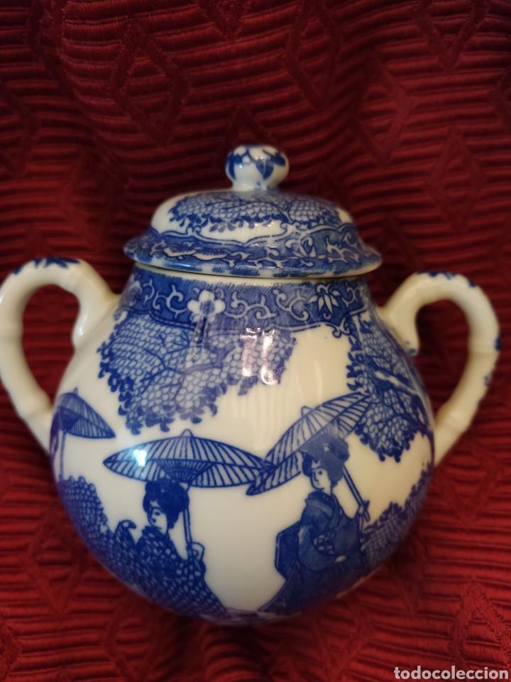 Antigüedades: Juego de tu y yo porcelana muy fina japonesa. - Foto 9 - 194739152