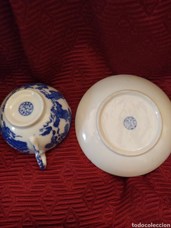 Antigüedades: Juego de tu y yo porcelana muy fina japonesa. - Foto 11 - 194739152