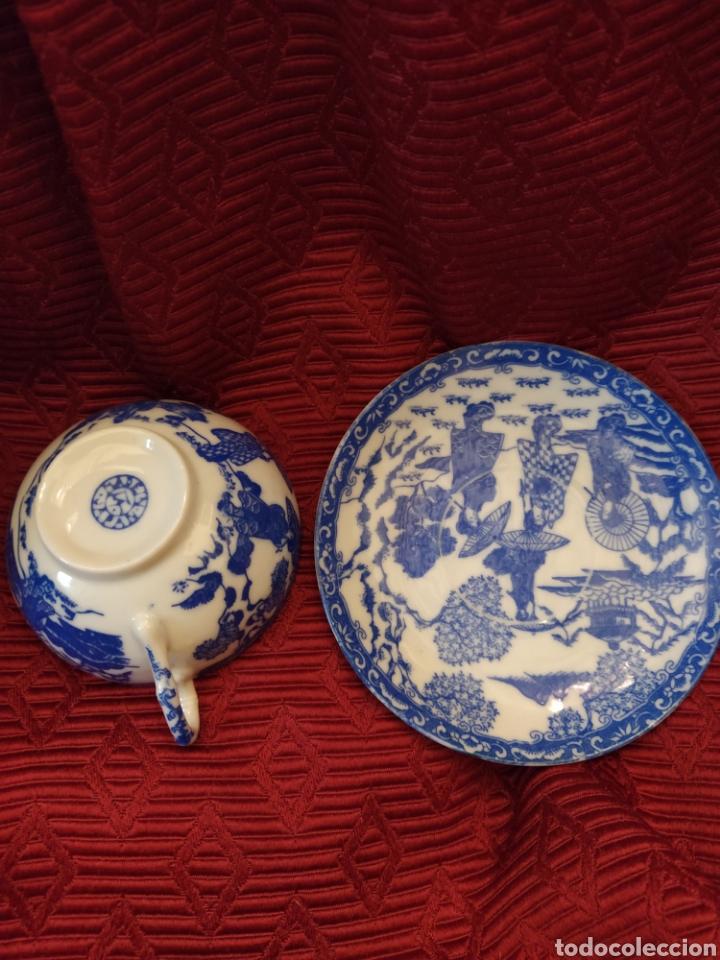 Antigüedades: Juego de tu y yo porcelana muy fina japonesa. - Foto 14 - 194739152