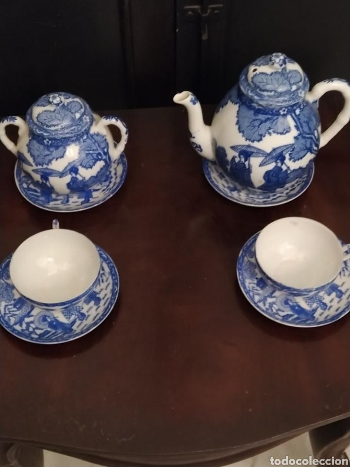 JUEGO DE TU Y YO PORCELANA MUY FINA JAPONESA. (Antigüedades - Porcelana y Cerámica - Japón)