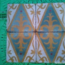 Antigüedades: 270 ANTIGUAS BALDOSAS HIDRÁULICAS DE ALMERÍA LOSA AZULEJO SUELO ESPIGA JOSE VICENTE CASTILLO MOSAICO. Lote 194746290