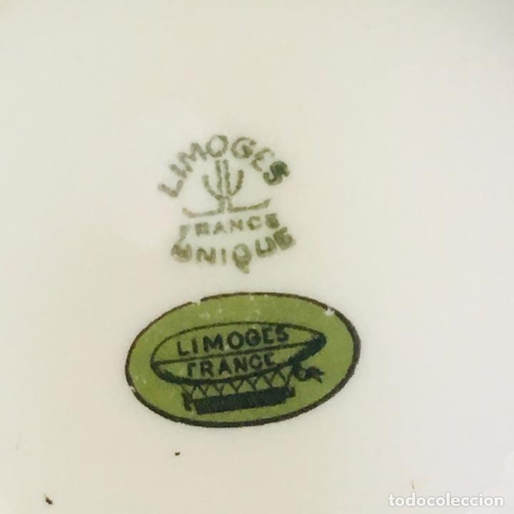 Antigüedades: AZUCARERO ANTIGUO GRANDE EN PORCELANA DE LIMOGES SELLADO LIMOGES - Foto 3 - 194747076