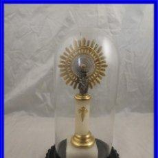 Antigüedades: VIRGEN DEL PILAR CON SU FANAL PROTECTOR DE CRISTAL. Lote 194747862