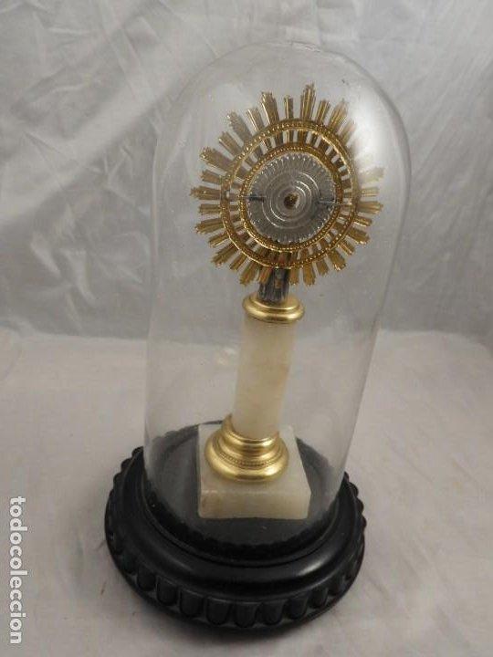 Antigüedades: VIRGEN DEL PILAR CON SU FANAL PROTECTOR DE CRISTAL - Foto 4 - 194747862