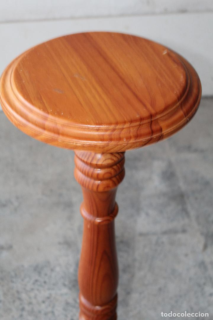 Antigüedades: mesita peana jardinera en madera - Foto 2 - 194750162