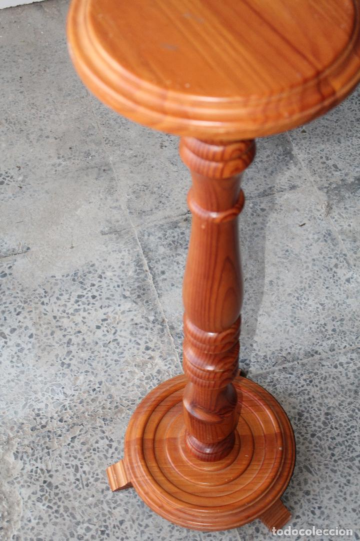 Antigüedades: mesita peana jardinera en madera - Foto 3 - 194750162