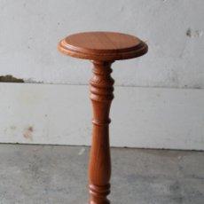Antigüedades: MESITA PEANA JARDINERA EN MADERA. Lote 194750162