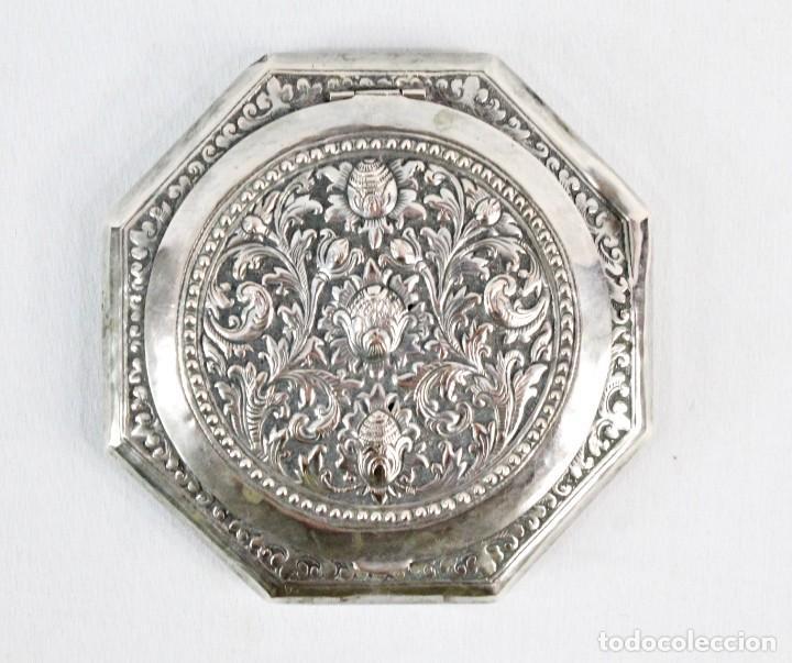 PRECIOSA POLVERA DE PLATA FINES S XIX A PPS S XX (Antigüedades - Moda y Complementos - Mujer)