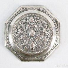 Antigüedades: PRECIOSA POLVERA DE PLATA FINES S XIX A PPS S XX. Lote 194751055