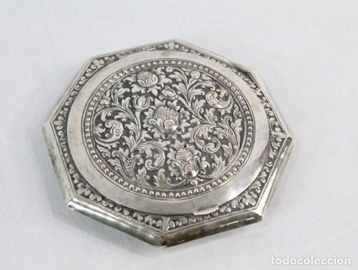Antigüedades: Preciosa polvera de plata fines s XIX a pps s XX - Foto 2 - 194751055