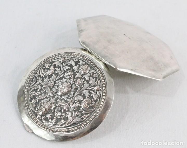 Antigüedades: Preciosa polvera de plata fines s XIX a pps s XX - Foto 3 - 194751055