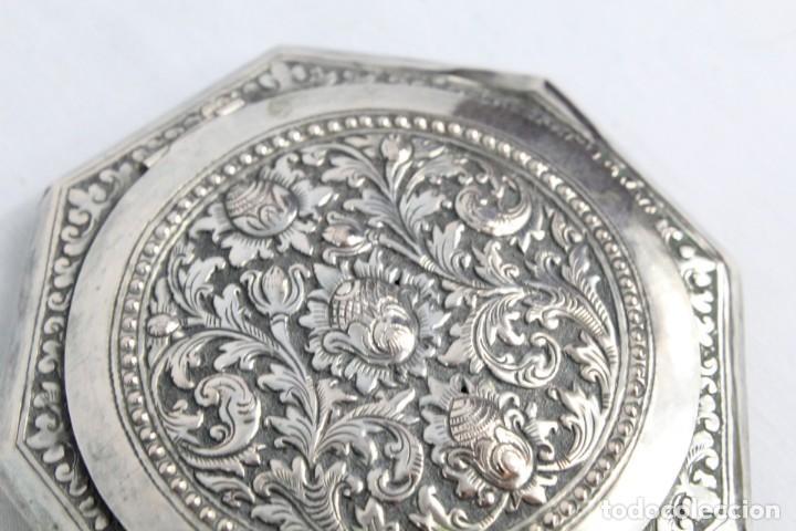 Antigüedades: Preciosa polvera de plata fines s XIX a pps s XX - Foto 6 - 194751055