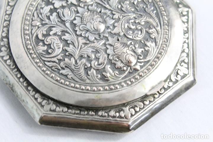 Antigüedades: Preciosa polvera de plata fines s XIX a pps s XX - Foto 7 - 194751055