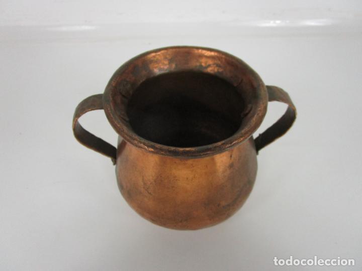 Antigüedades: Olla de Cobre - con Asas - Principios S. XX - Foto 4 - 194751082