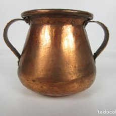 Antigüedades: OLLA DE COBRE - CON ASAS - PRINCIPIOS S. XX. Lote 194751082