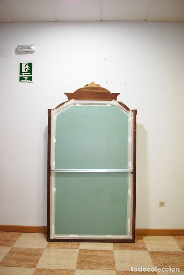 Antigüedades: GRAN ESPEJO ANTIGUO ISABELINO IDEAL VESTIDOR MADERA Y PAN DE ORO - Foto 9 - 194753947