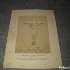 Antigüedades: FOTOGRAFIA ANTIGUA CRISTO CRUCIFICADO CRUCIFIJO VALENCIA RIBARROJA C.1 RAFAEL VIDAL. Lote 194755270