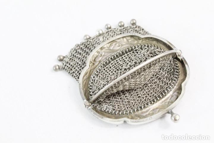 Antigüedades: Precioso monedero compartimentado en plata Art Nouveau fines s XIX - Foto 6 - 194756465