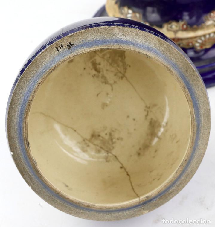 Antigüedades: JARRÓN DE SACSUMA 70 CM DE ALTURA TOTAL. PRINCIPIOS s.XX. - Foto 4 - 194756636