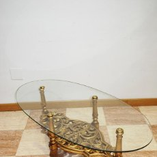Antigüedades: MESA ANTIGUA DE CENTRO PIE DE MADERA. Lote 194759391