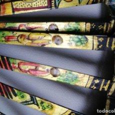 Antigüedades: RARO ABANICO CON CARAS DE MARFIL EN EL VARILLAJE . Lote 194760090