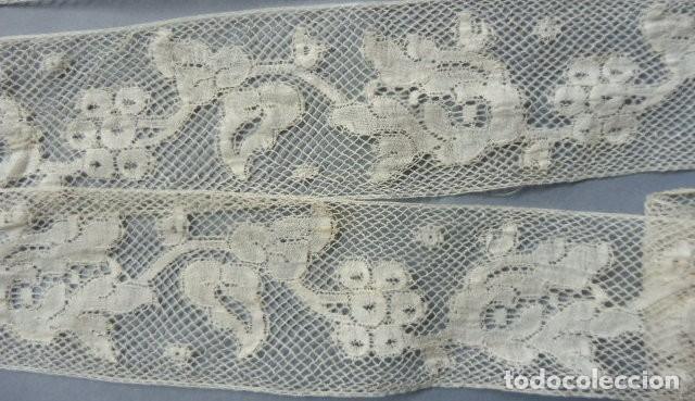 Antigüedades: ANTIGUO ENTREDOS ENCAJE DE VALENCIENNES S.XIX - Foto 4 - 194761248