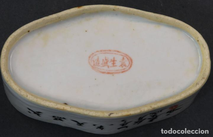 Antigüedades: Jabonera con porcelana china pintada segunda mitad del siglo XIX - Foto 7 - 194765523