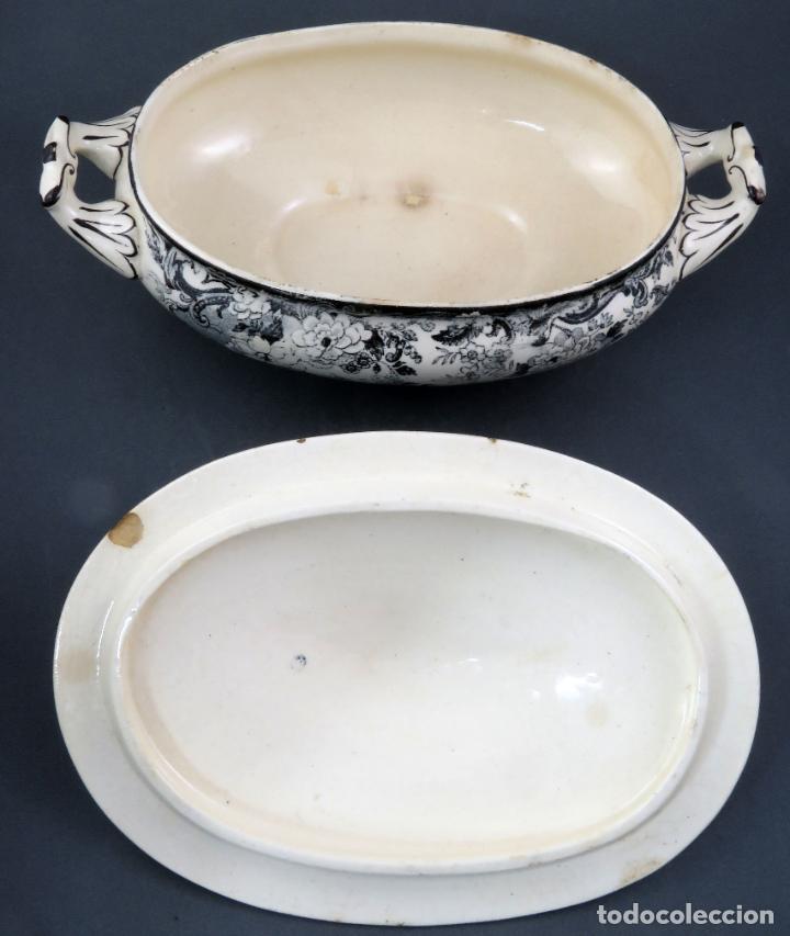 Antigüedades: Sopera de fuente en loza esmaltada La Cartuja Pickman siglo XX - Foto 8 - 194766070