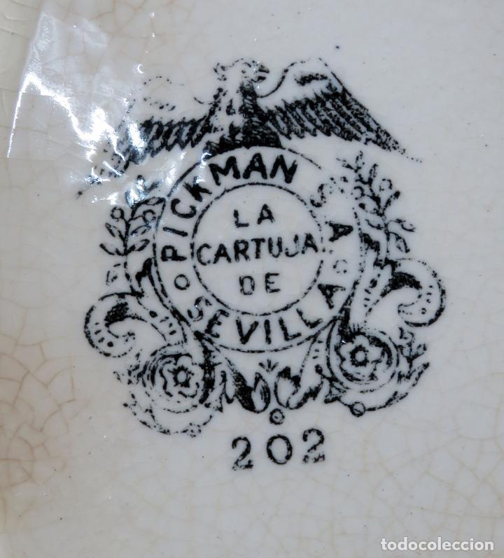 Antigüedades: Sopera de fuente en loza esmaltada La Cartuja Pickman siglo XX - Foto 9 - 194766070
