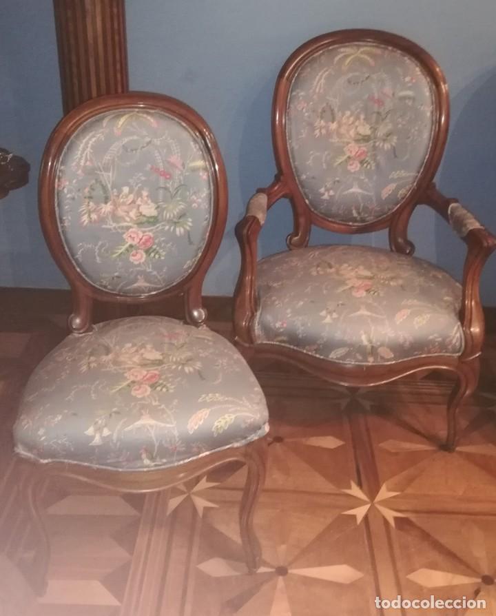 Antigüedades: Muebles de salón isabelinos, siglo XIX - Foto 3 - 194766508