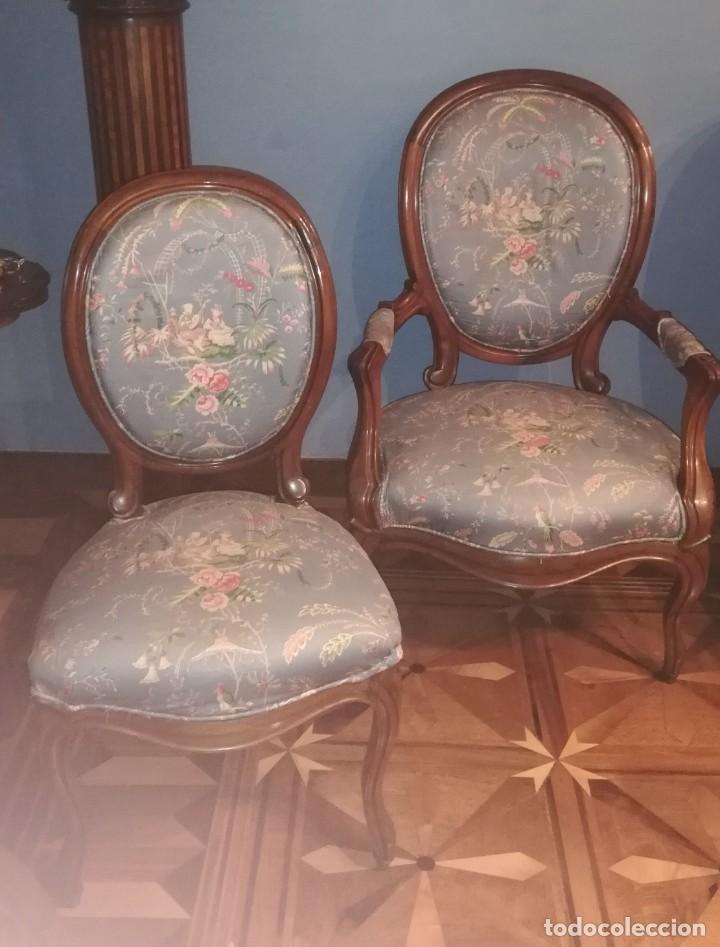 Antigüedades: Muebles de salón isabelinos, siglo XIX - Foto 4 - 194766508