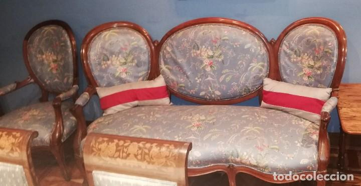 Antigüedades: Muebles de salón isabelinos, siglo XIX - Foto 5 - 194766508