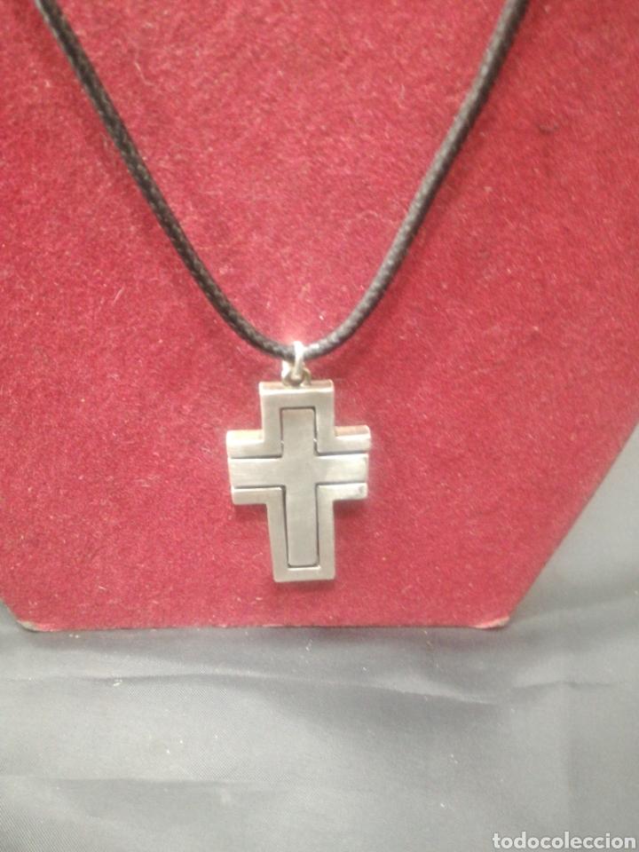 ORIGINAL CRUZ DE PLATA MOVIBLE (Antigüedades - Religiosas - Cruces Antiguas)