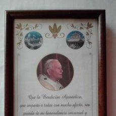 Antigüedades: BENDICION APOSTOLICA JUAN PABLO II. Lote 194775866