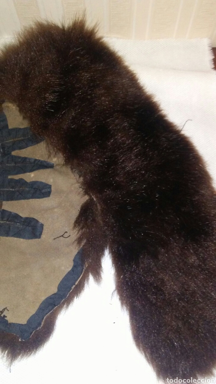 Antigüedades: Lote de 4 cuellos de piel para abrigo (ver fotos y leer descripcion ). - Foto 15 - 194777485