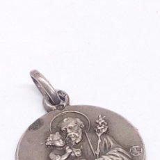 Antigüedades: MEDALLA DE PLATA RELIGIOSA. Lote 194777565