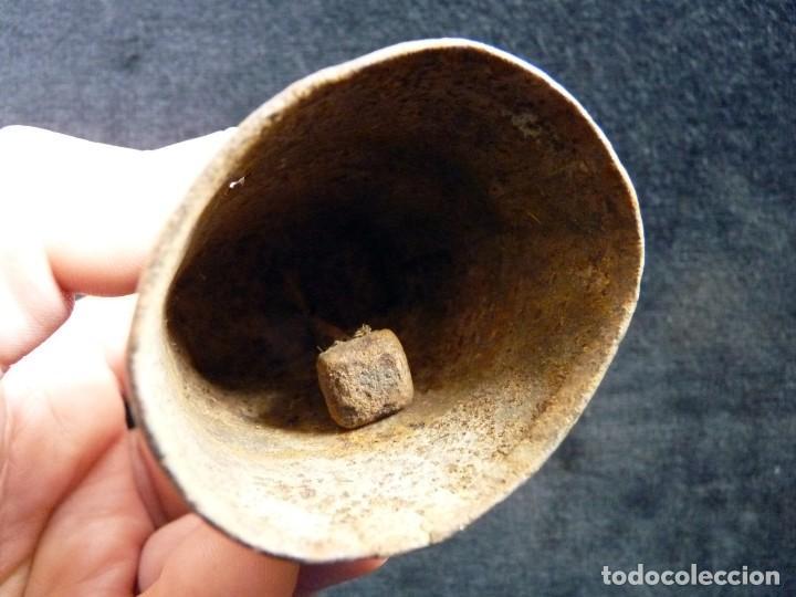 Antigüedades: ANTIGUO CENCERRO DECORADO. VALENCIA. 9 cm. (6) - Foto 5 - 194779173