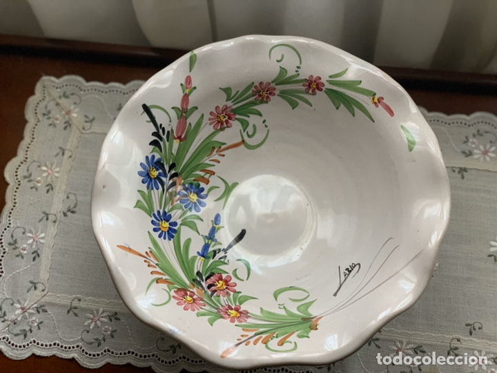 Antigüedades: Frutero de cerámica lorquina de Lario. - Foto 3 - 194785660