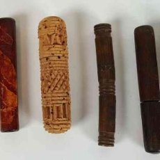 Antigüedades: COLECCIÓN DE 10 ALFILETEROS. VARIAS MEDIDAS Y METERIALES. SIGLO XX. . Lote 194785677
