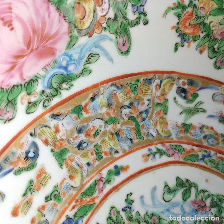 Antigüedades: GRAN BOL CHINO. FAMILIA ROSA. PORCELANA ESMALTADA. CHINA. SIGLO XIX - Foto 6 - 194787885