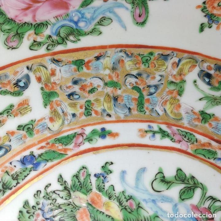 Antigüedades: GRAN BOL CHINO. FAMILIA ROSA. PORCELANA ESMALTADA. CHINA. SIGLO XIX - Foto 7 - 194787885