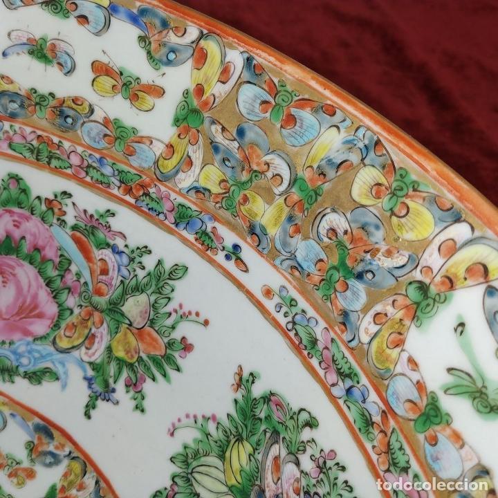 Antigüedades: GRAN BOL CHINO. FAMILIA ROSA. PORCELANA ESMALTADA. CHINA. SIGLO XIX - Foto 8 - 194787885