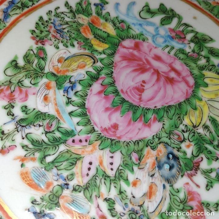 Antigüedades: GRAN BOL CHINO. FAMILIA ROSA. PORCELANA ESMALTADA. CHINA. SIGLO XIX - Foto 10 - 194787885