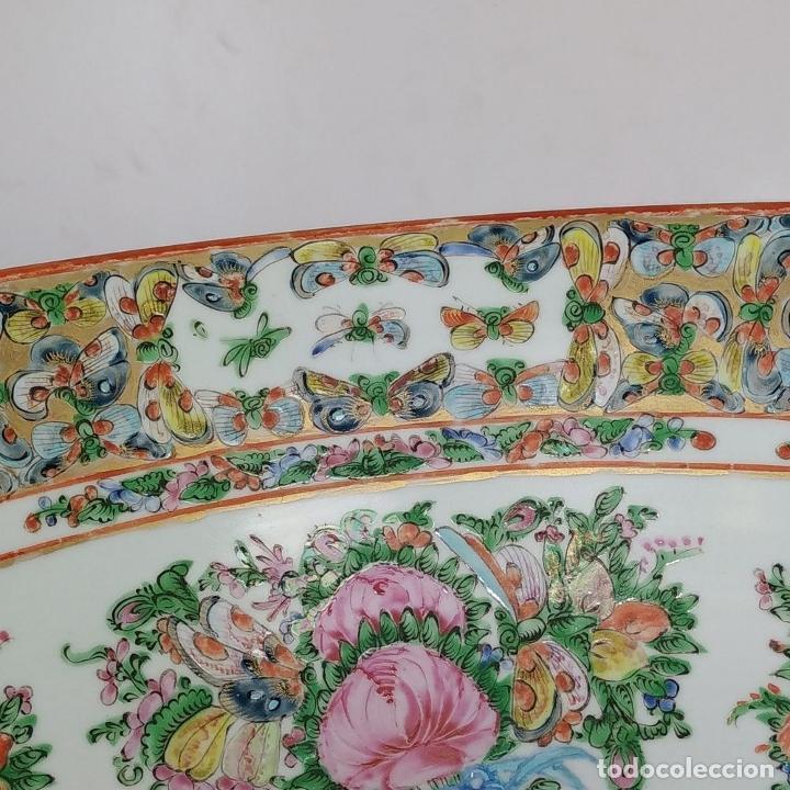 Antigüedades: GRAN BOL CHINO. FAMILIA ROSA. PORCELANA ESMALTADA. CHINA. SIGLO XIX - Foto 12 - 194787885