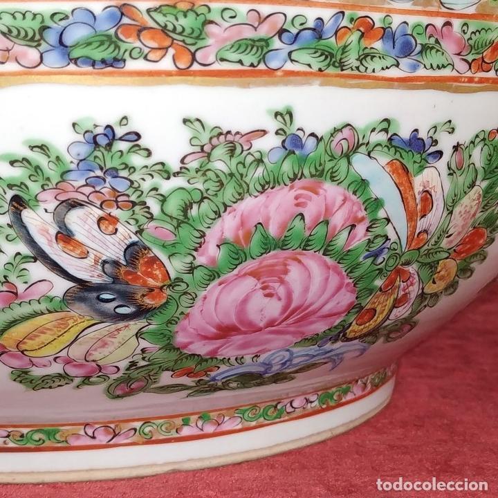 Antigüedades: GRAN BOL CHINO. FAMILIA ROSA. PORCELANA ESMALTADA. CHINA. SIGLO XIX - Foto 14 - 194787885