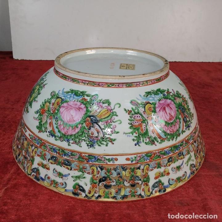 Antigüedades: GRAN BOL CHINO. FAMILIA ROSA. PORCELANA ESMALTADA. CHINA. SIGLO XIX - Foto 16 - 194787885