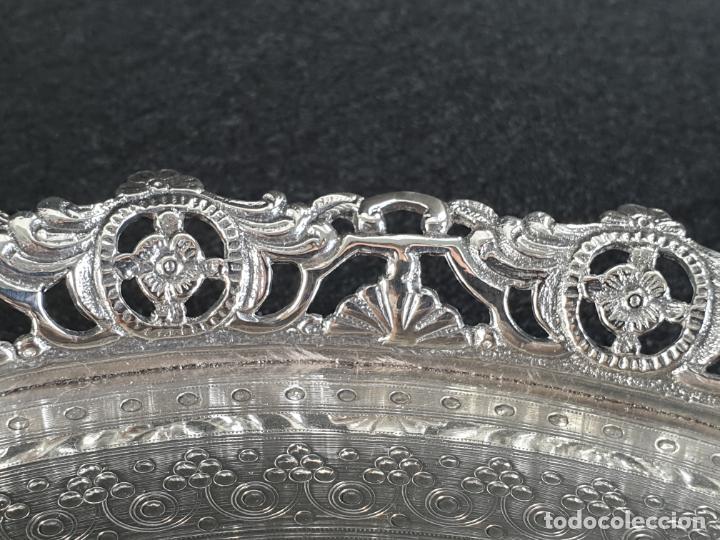 Antigüedades: bandeja plato en plata ley marcado con contraste - Foto 6 - 194820726