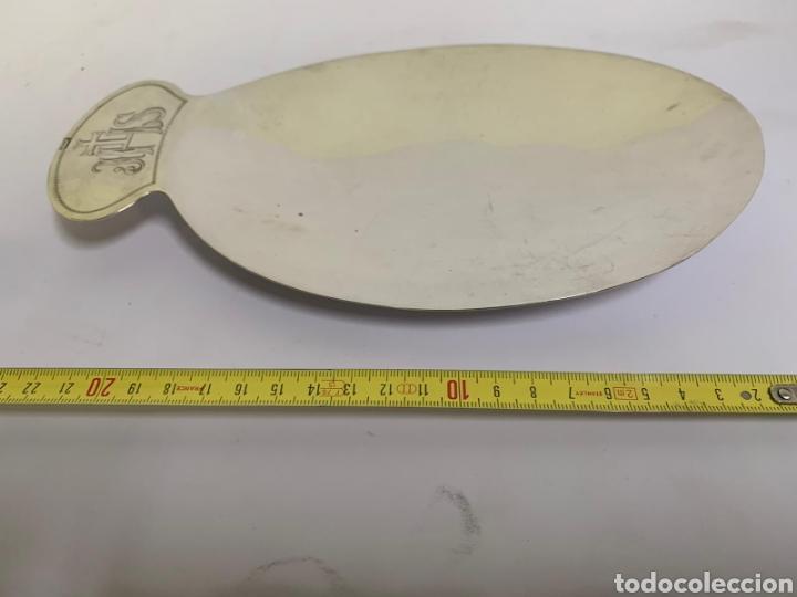 PATENA EN PLATA DE MENESES (Antigüedades - Plateria - Varios)