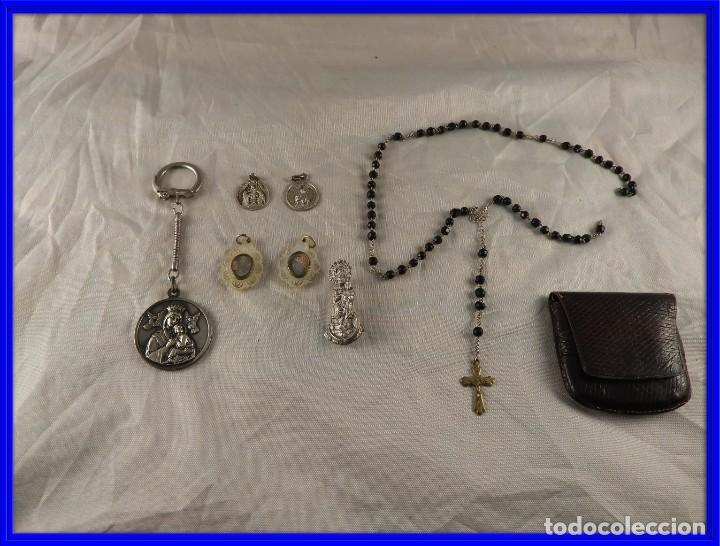 MEDALLAS LLAVERO ROSARIO OBJETOS RELIGIOSOS ANTIGUOS (Antigüedades - Religiosas - Medallas Antiguas)